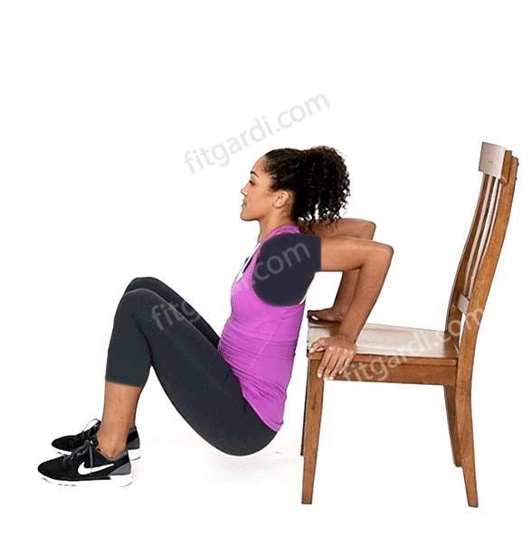 سفت شدن پشت بازو با دیپ نیمکت یا صندلی - Bench or Chair Dip