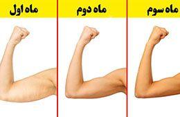ورزش برای از بین بردن چربی پشت بازو + تصاویر متحرک