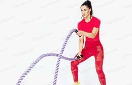 حرکات ورزشی با بتل روپ (battle rope) برای بانوان